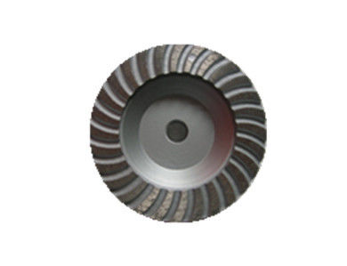 Grey Black  4.5'' Diamond Cup Wheel Turbo Cup Wheel With Aluminium Base For Granite