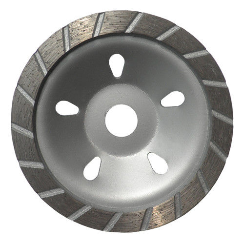 180MM Sintered Turbo Grinding Head Diamond Cup Wheel , Concrete Grinding Wheel